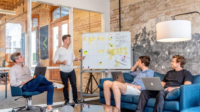 Team discussing broken agency model